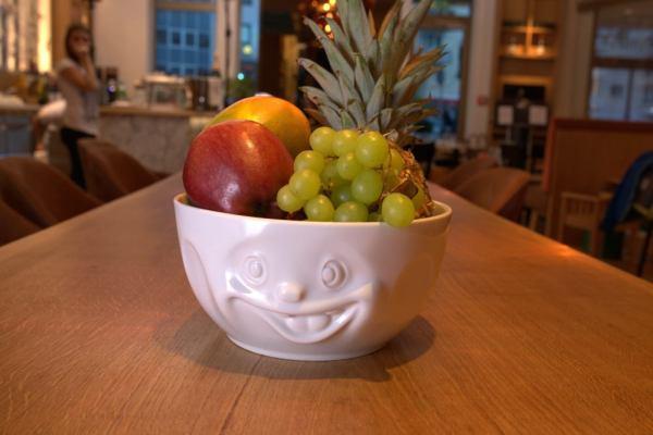 Śniadanie zuśmiechem od ucha do ucha