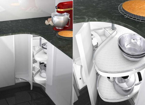 Wielka przestrzeń w małej kuchni