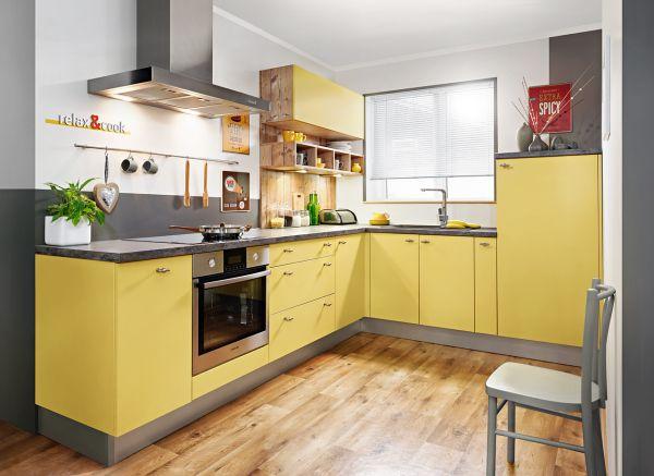 Kuchnia w kolorze szafranu